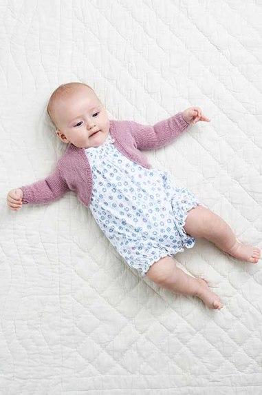 strikket babybolero