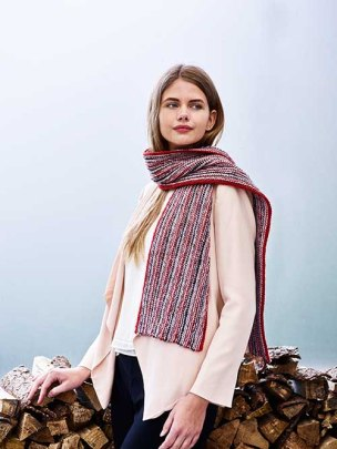 Scarf in Parisian Tricot